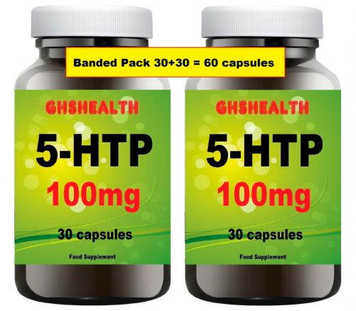 5HTP 100mg 30 + 30 = 60 capsules Special normally £18.99